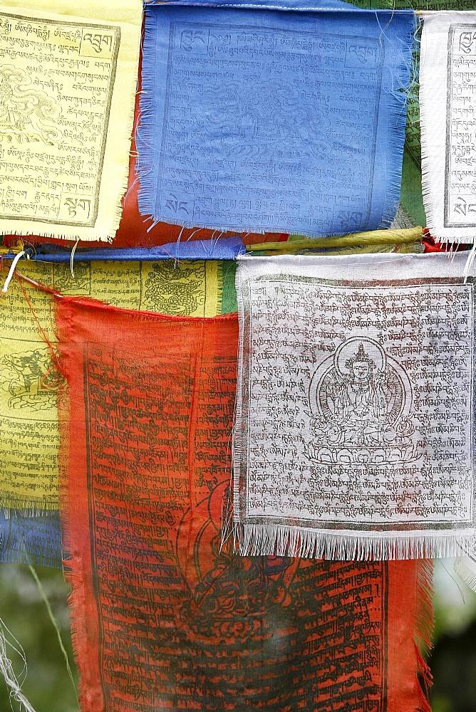 Prayer flags, Swayambhunath Temple, Kathmandu, Nepal, Asia - 809-904