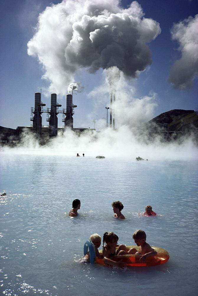 Blue lagoon, Svarsengi geothermal plant, Iceland, Polar Regions - 81-697