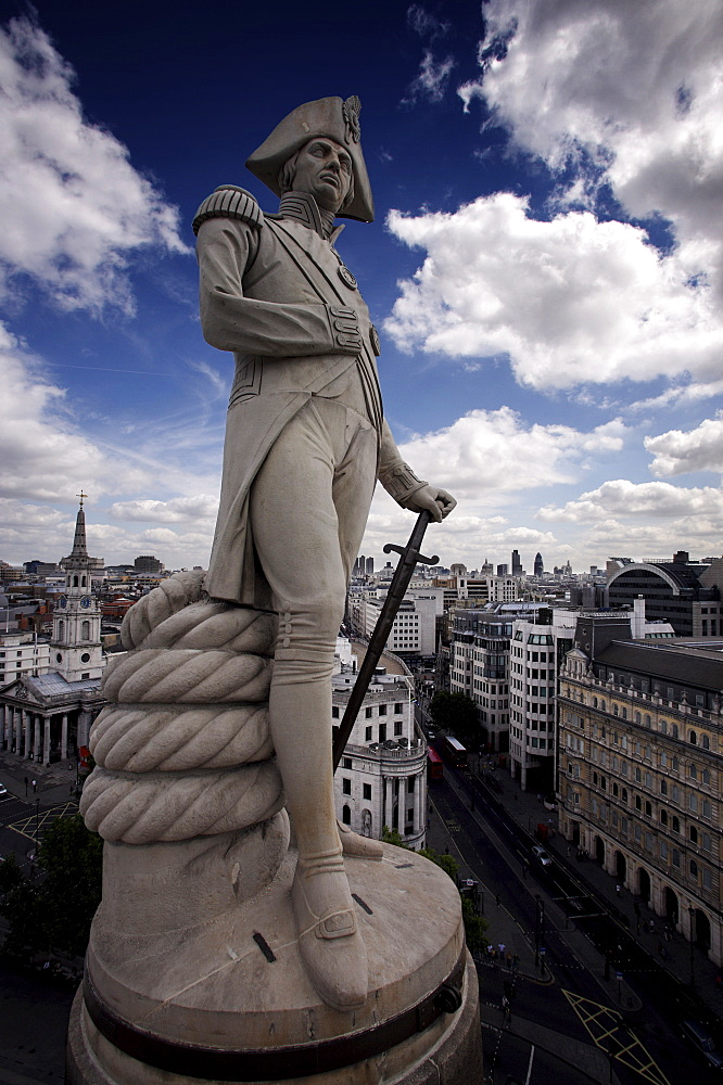 Nelsons Column, Trafalgar Square, London, England, United Kingdom, Europe - 812-175