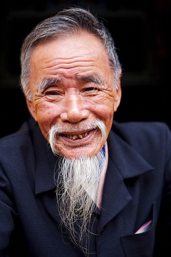 Village elder, Tam Ky, Vietnam, Indochina, Southeast Asia, Asia - 812-219