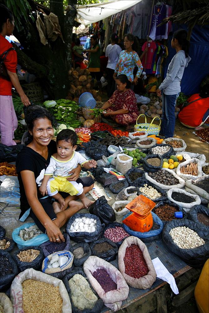 The market of Parapat, close to Lake Toba, Sumatra, Indonesia, Southeast Asia, Asia