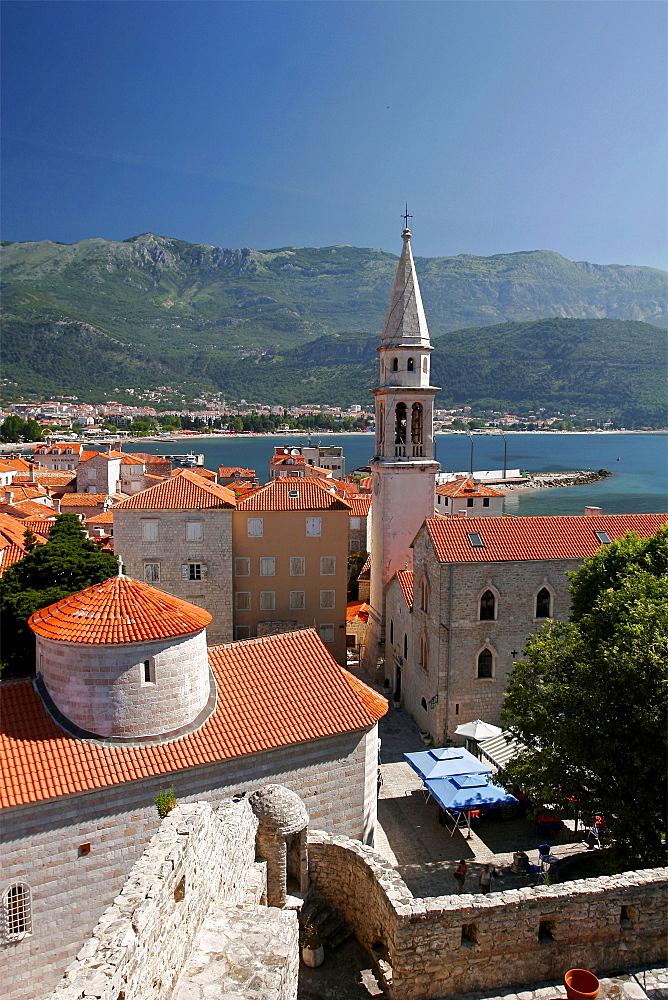The small city of Budva, Montenegro, Europe