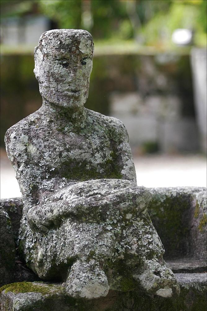 A classic sculpture in the village of Samosir, Lake Toba, Sumatra, Indonesia, Southeast Asia, Asia