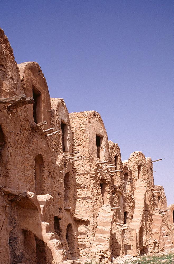 Ghorfa ruins, Tataouine, Tunisia, North Africa, Africa