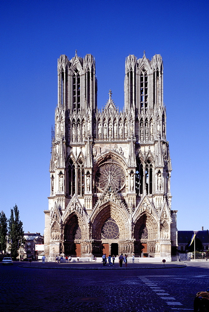 Notre Dame Cathedral, Reims, Marne, France, Europe