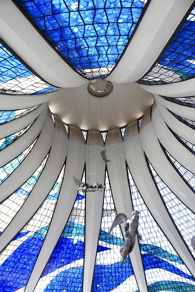 Brasilia Cathedral, architect Oscar Niemeyer, Brasilia, Brazil, South America - 815-2186