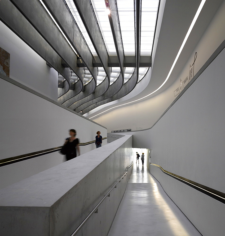 The MAXXI, National Museum of 21st Century Arts, architect Zaha Hadid, Rome, Lazio, Italy, Europe - 815-2277