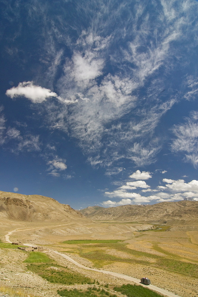Open wide plains, Shokh Dara, Tajikistan, Central Asia, Asia