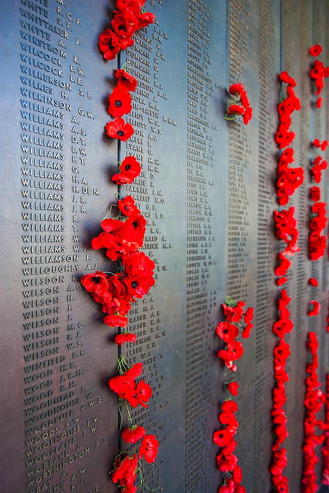 Roll of Honour at the Australian War Memorial, Canberra, Australian Capital Territory, Australia, Pacific