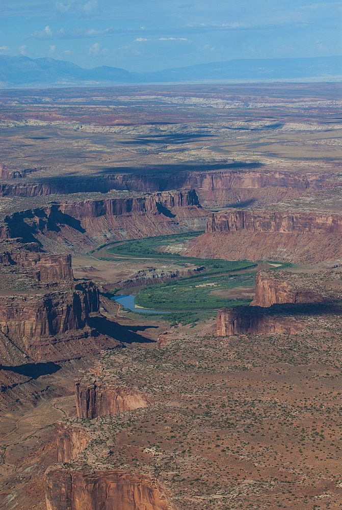 Aerial view, Canyonlands National Park, Utah, United States of America, North America