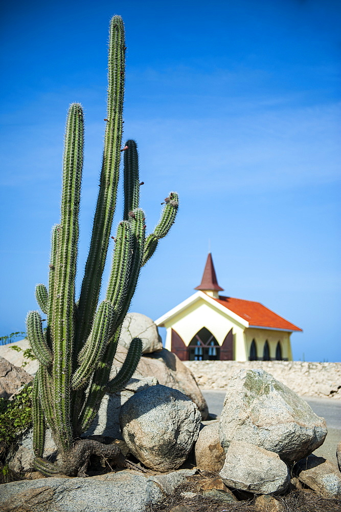 Chapel of Alto Vista, Aruba, ABC Islands, Netherland Antilles, Caribbean, Central America