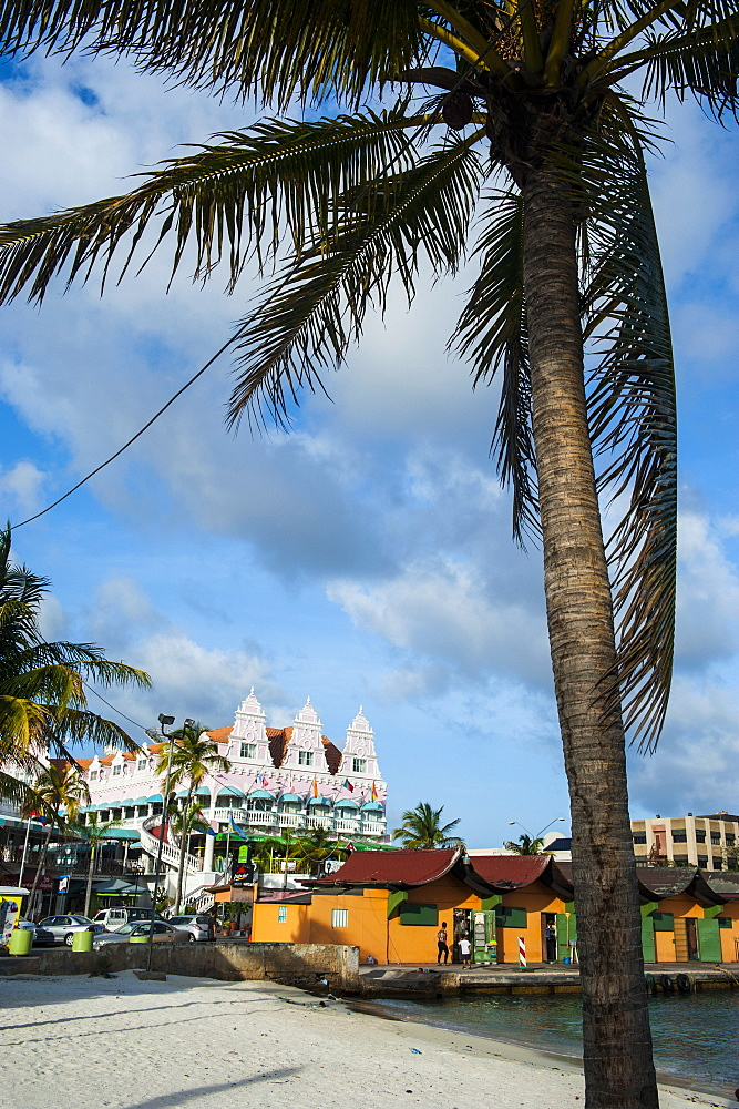 Downtown Oranjestad, capital of Aruba, ABC Islands, Netherlands Antilles, Caribbean, Central America