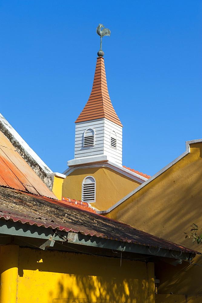 Dutch architecture in Kralendijk capital of Bonaire, ABC Islands, Netherlands Antilles, Caribbean, Central America