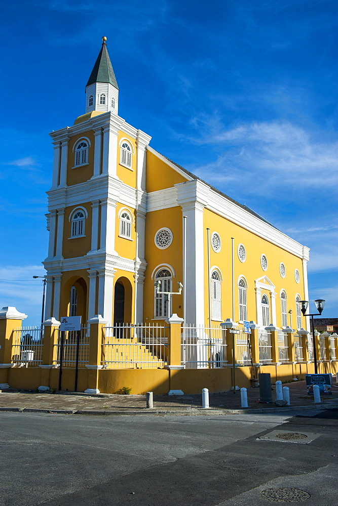 Church in Willemstad, capital of Curacao, ABC Islands, Netherlands Antilles, Caribbean, Central America
