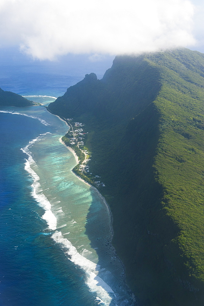 Aerial of Ofu Island, Manua Island group, American Samoa, South Pacific, Pacific