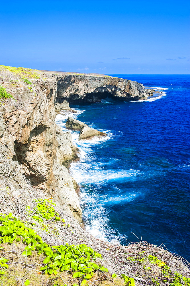 Banzai cliffs on Saipan, Northern Marianas, Central Pacific, Pacific