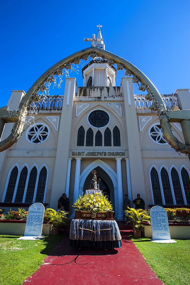 St. Joseph's church in Inarajan, Guam, US Territory, Central Pacific, Pacific
