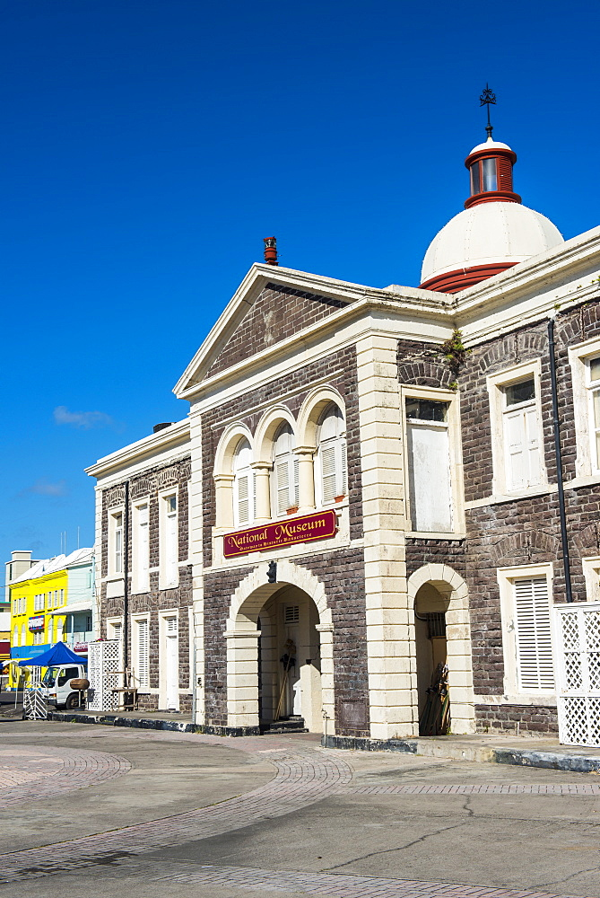 The renovated pier in Basseterre, St. Kitts, capital of St. Kitts and Nevis, Leeward Islands, West Indies, Caribbean, Central America
