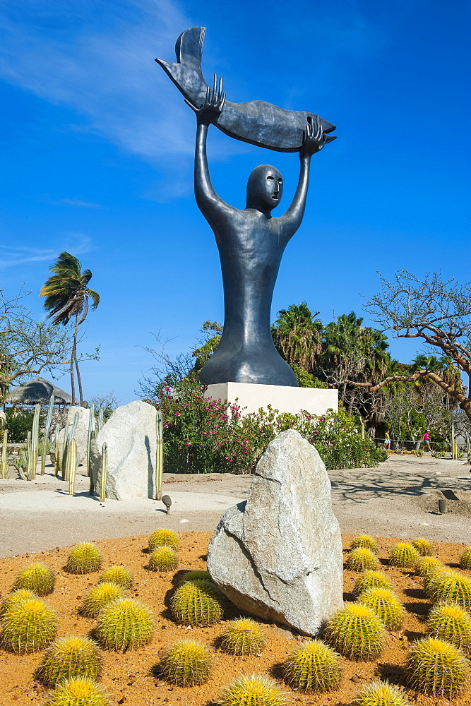 Modern statue in Puerto Los Cabos, part of San Jose del Cabo, Baja California, Mexico, North America