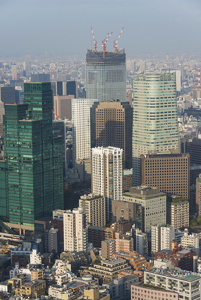 View over Tokyo from the Mori Tower, Roppongi Hills, Tokyo, Japan, Asia