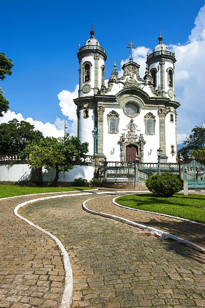 Church of Sao Francisco de Assis in Sao Joao del Rei, Minas Gerais, Brazil, South America