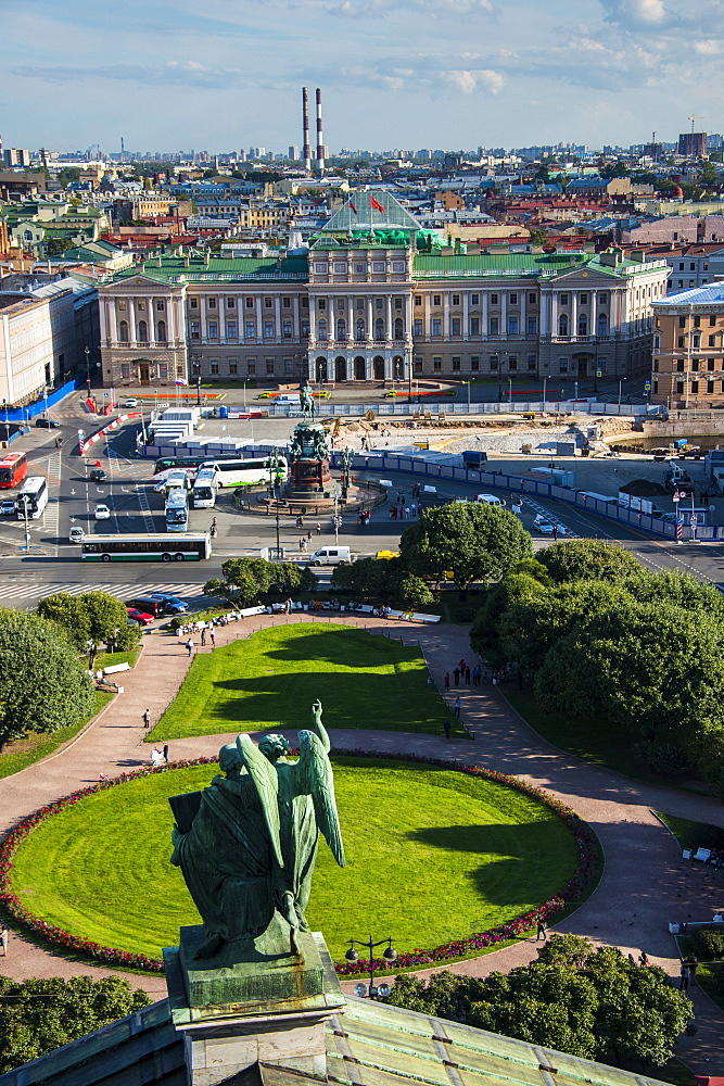 View from St. Isaac's Cathedral in St. Petersburg, Russia, Europe