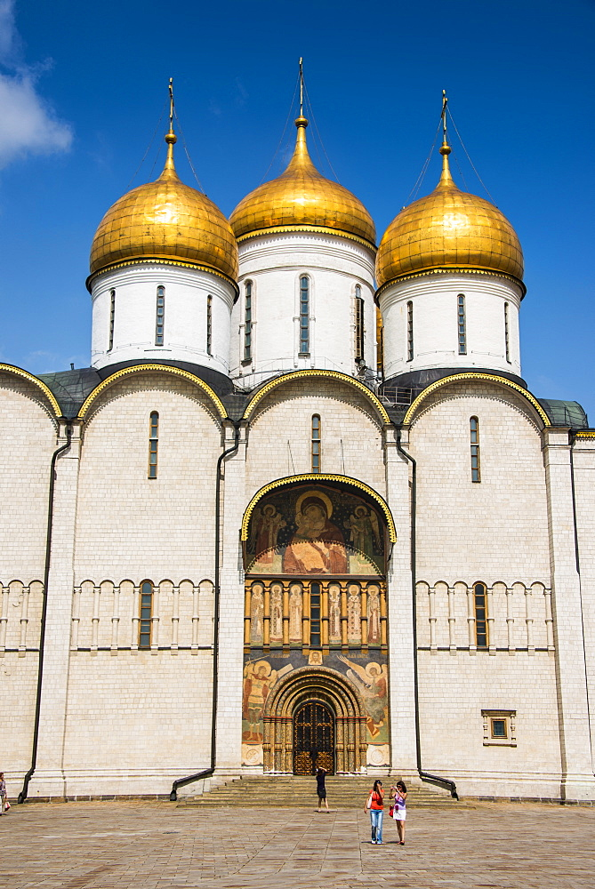 Assumption Cathedral on Sabornaya Square, The Kremlin, UNESCO World Heritage Site, Moscow, Russia, Europe