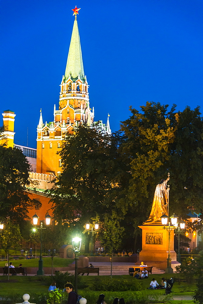 The Kremlin at Red Square, UNESCO World Heritage Site, Moscow, Russia, Europe