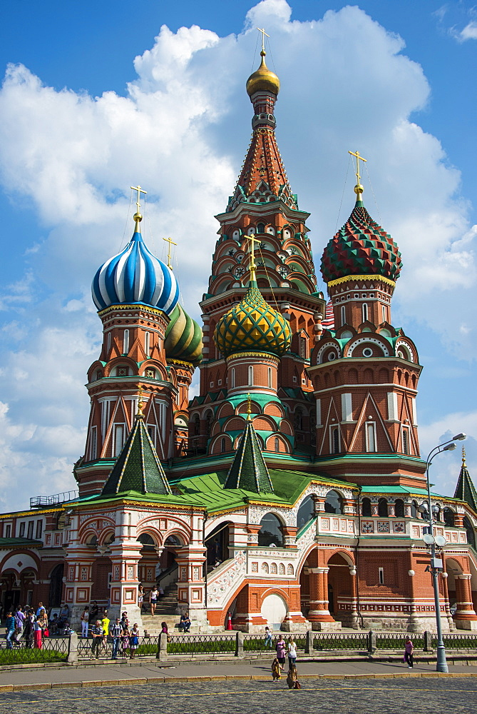 St. Basil's Cathedral on Red Square, UNESCO World Heritage Site, Moscow, Russia, Europe