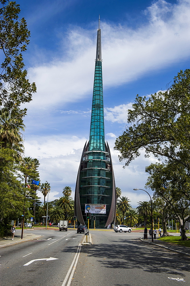 Modern bell tower in Perth, Western Australia, Australia, Pacific