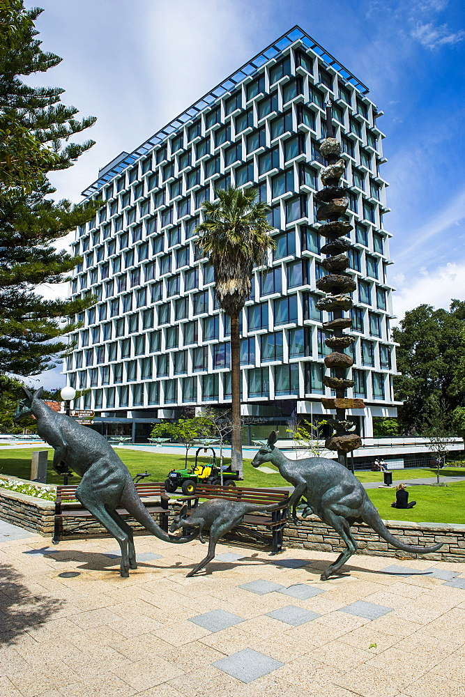 Kangaroo statue in front of the City of Perth council, Perth, Western Australia, Australia, Pacific
