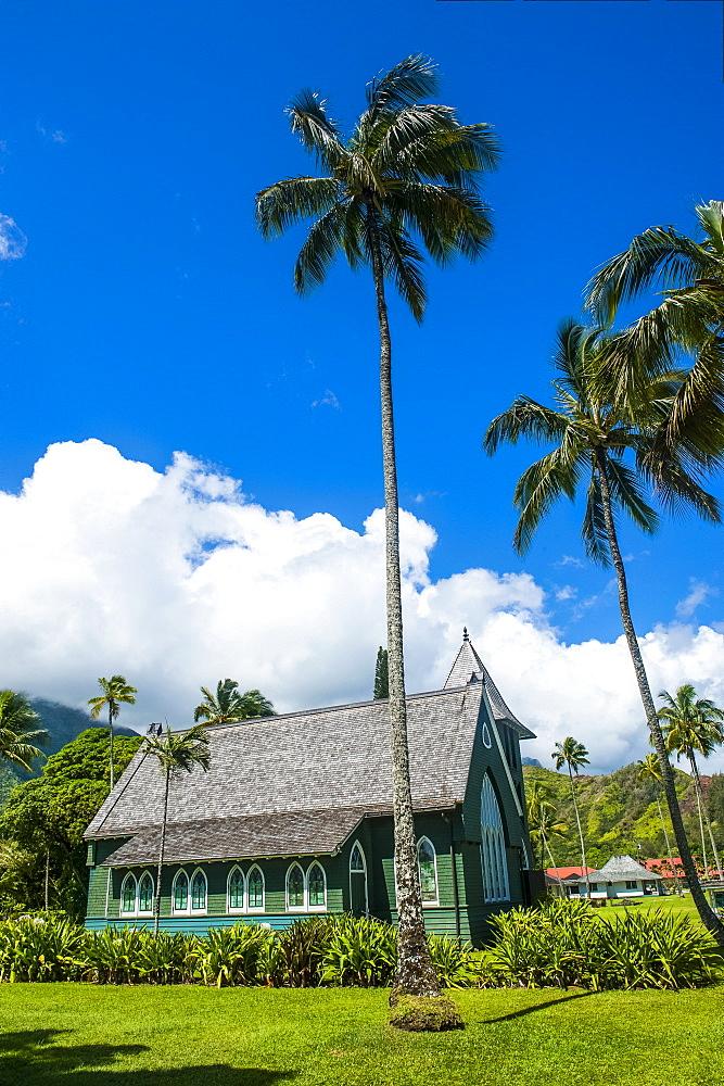 Wai'oli Hui'ia Church in Hanalai on the island of Kauai, Hawaii, United States of America, Pacific