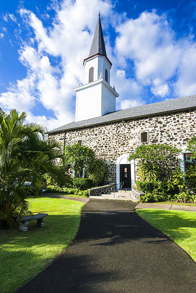 Mokuaikaua church, Kailua-Kona, Big Island, Hawaii, United States of America, Pacific