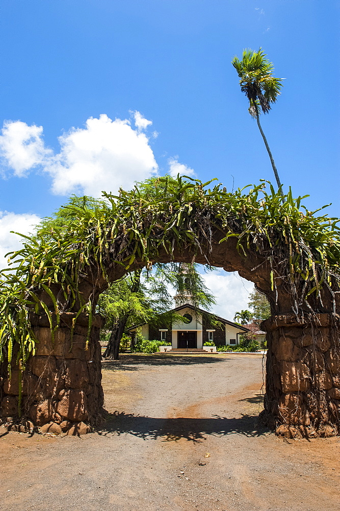 Haleiwa church in Haleiwa, North Shore Oahu, Hawaii, United States of America, Pacific