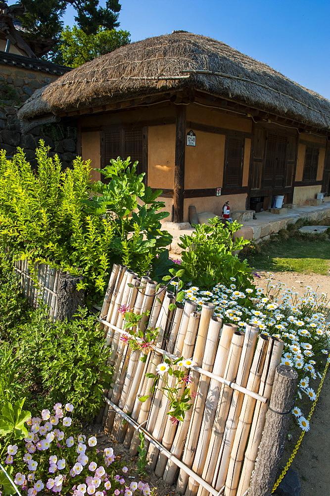 Traditional wooden house in the Yangdong folk village near Gyeongju, South Korea, Asia