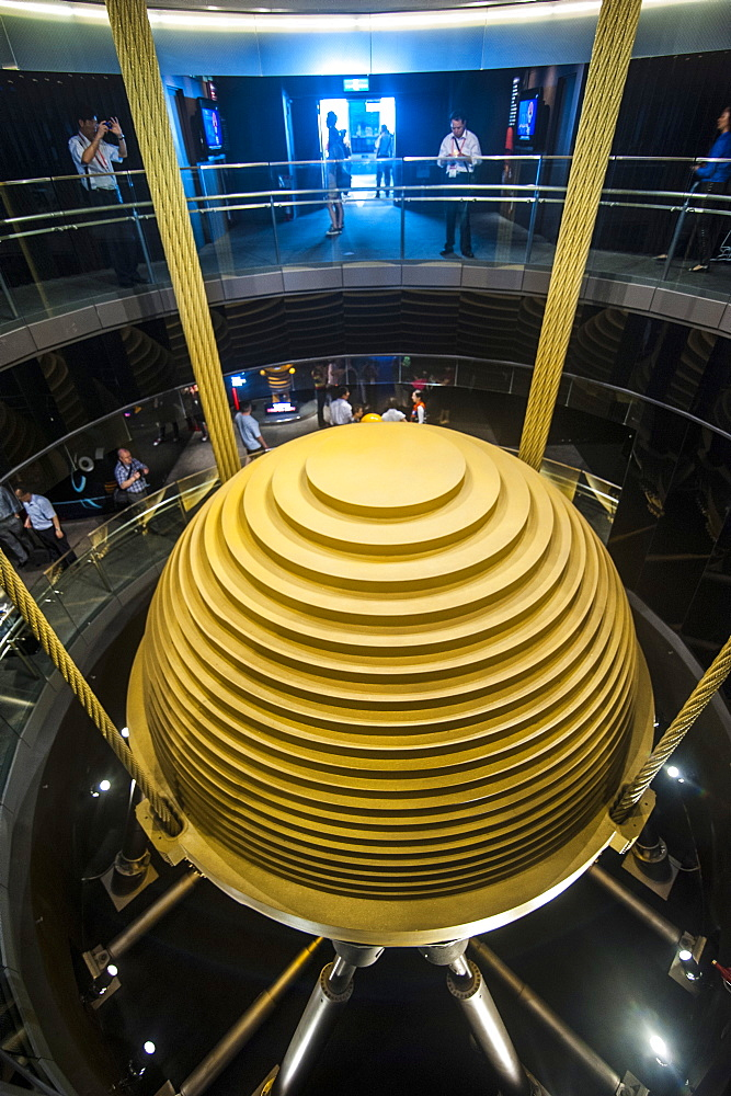 Giant tuned mass damper in the Taipei 101 Tower, Taipei, Taiwan, Asia