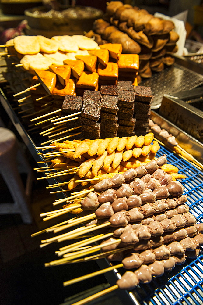 Tofu for sale, Shilin Night Market, Taipei, Taiwan, Asia