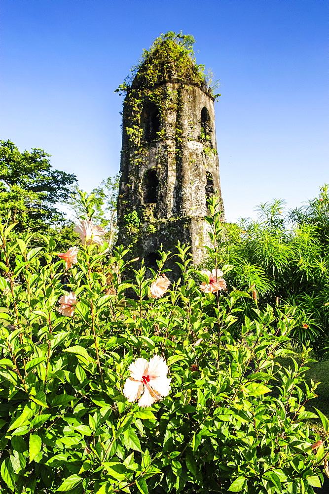 Cagsawa Church, Mount Mayon, Legaspi, Southern Luzon, Philippines, Southeast Asia, Asia