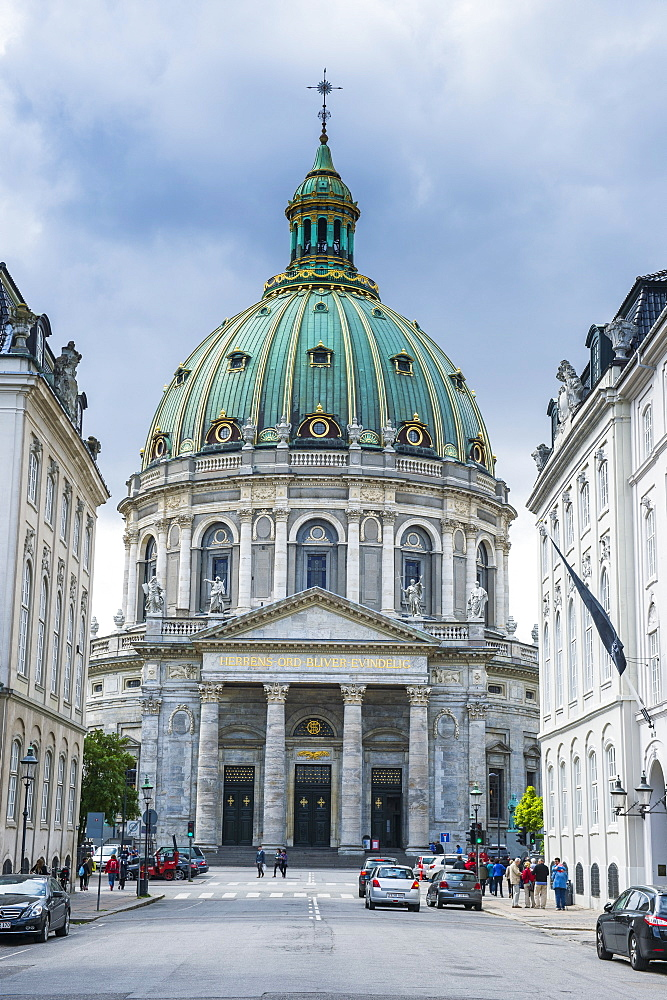 Frederik's Church (The Marble Church) (Marmorkirken), Copenhagen, Denmark, Scandinavia, Europe