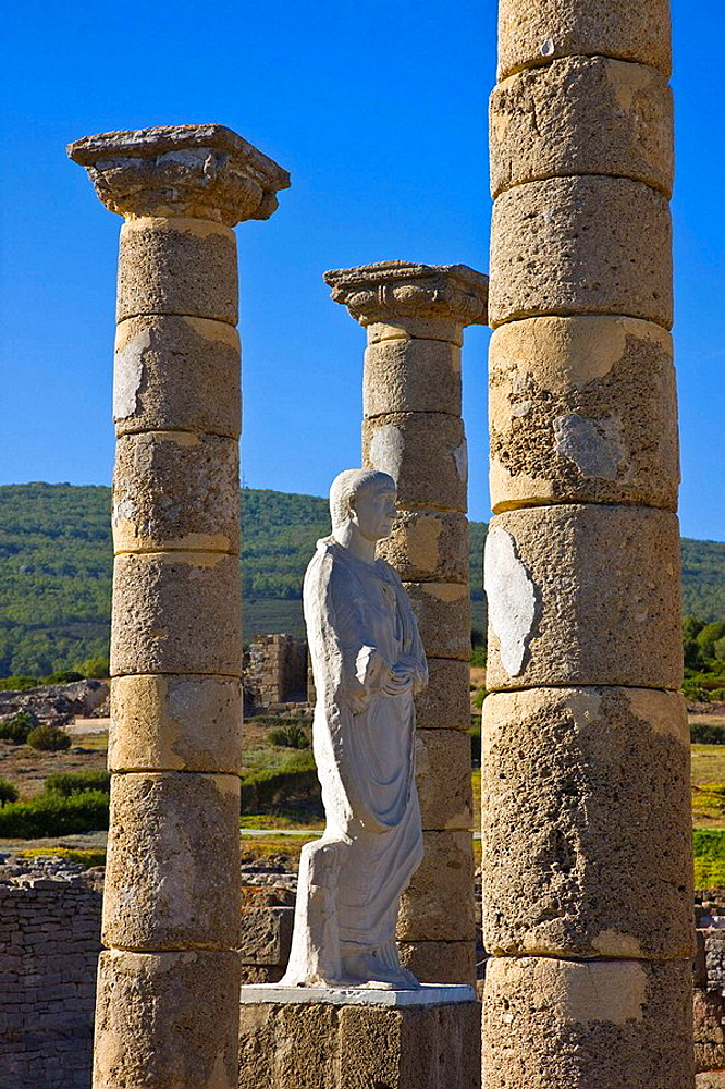Archaeological site of old roman city of Baelo Claudia, Bolonia, Strait of Gibraltar Natural Park, Costa de la Luz, Cadiz province, Andalusia, Spain