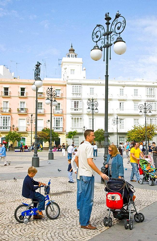Plaza de San Antonio, Cadiz, Andalusia, Spain