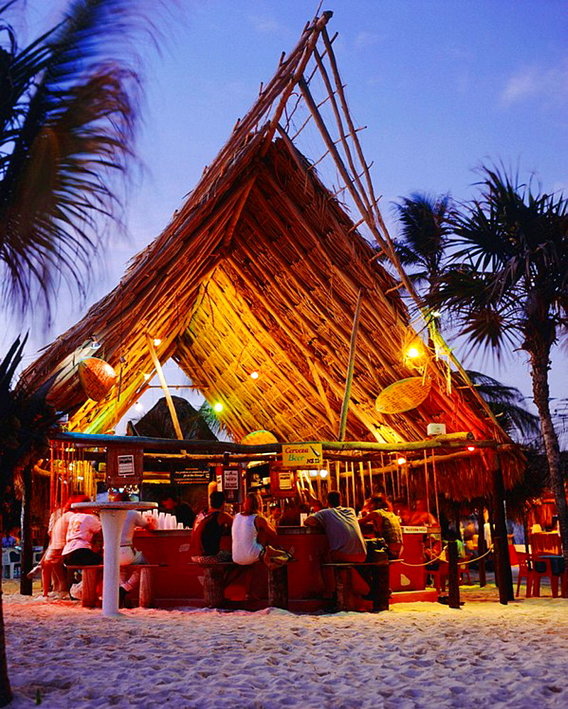 Beach Bar in Playa del Carmen, Mexico