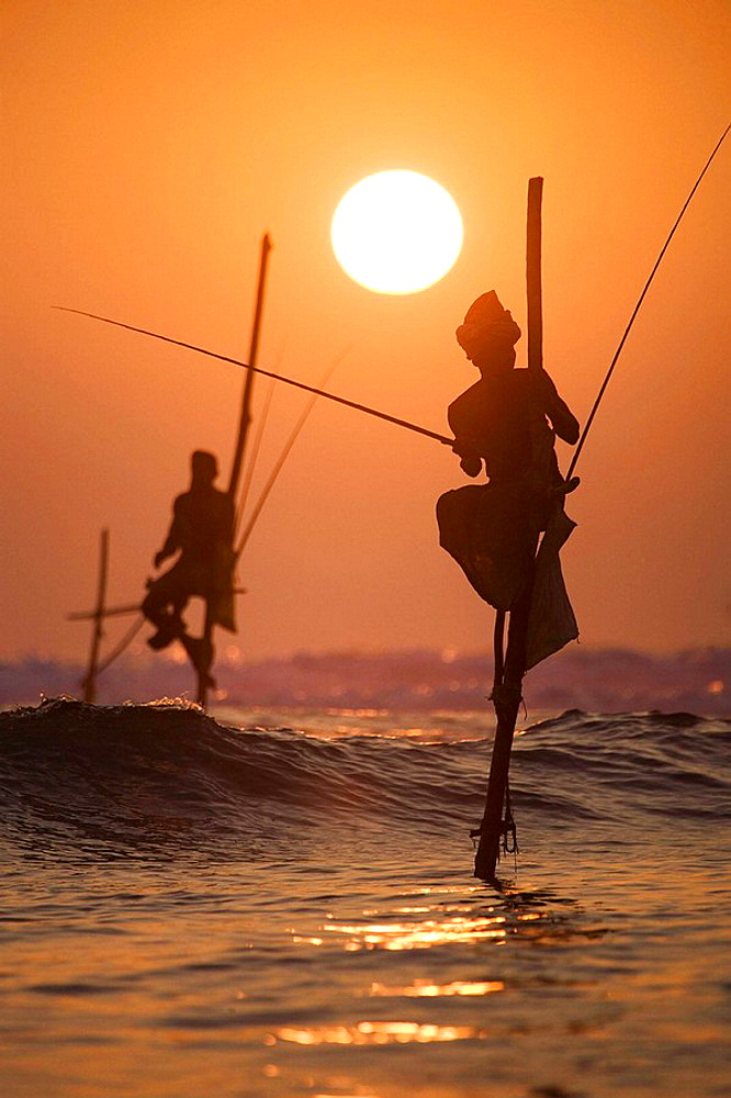 Stilt fishermen in Kogalla, Sri Lanka - 817-102672