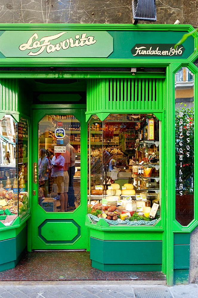 'La Favorita' typical produces shop, Palma de Mallorca, Majorca, Balearic Islands, Spain