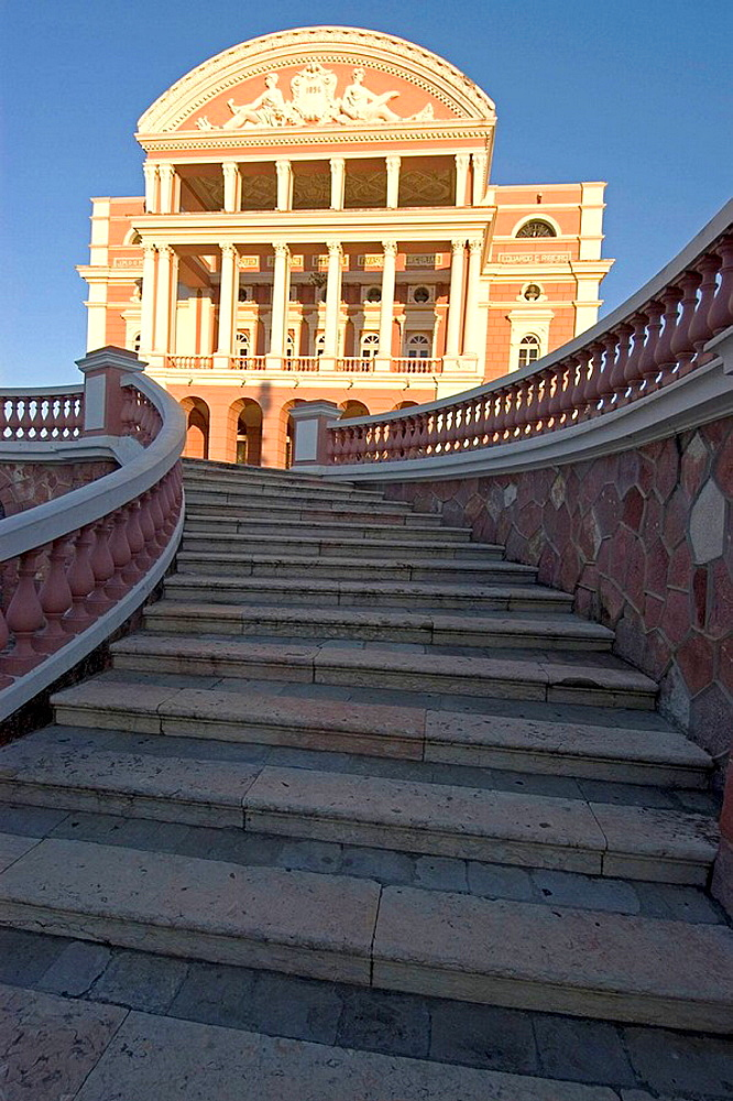 Amazon theatre; opera house built in 1896 during the rubber boom, Manaus, Amazonas, Brazil