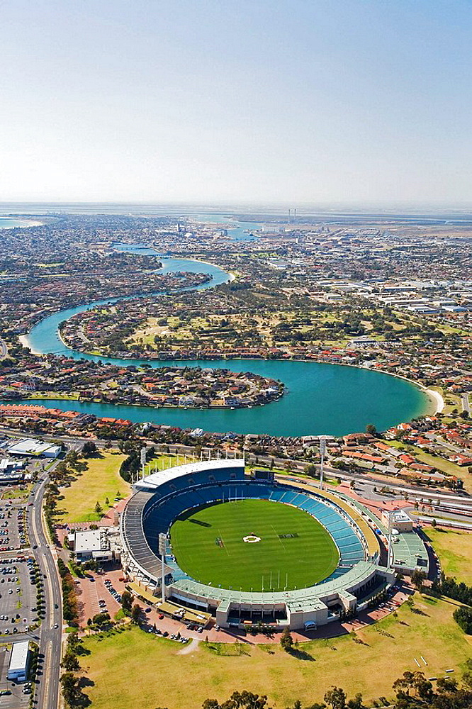 AAMI Stadium and West Lakes, Adelaide, South Australia, Australia - aerial