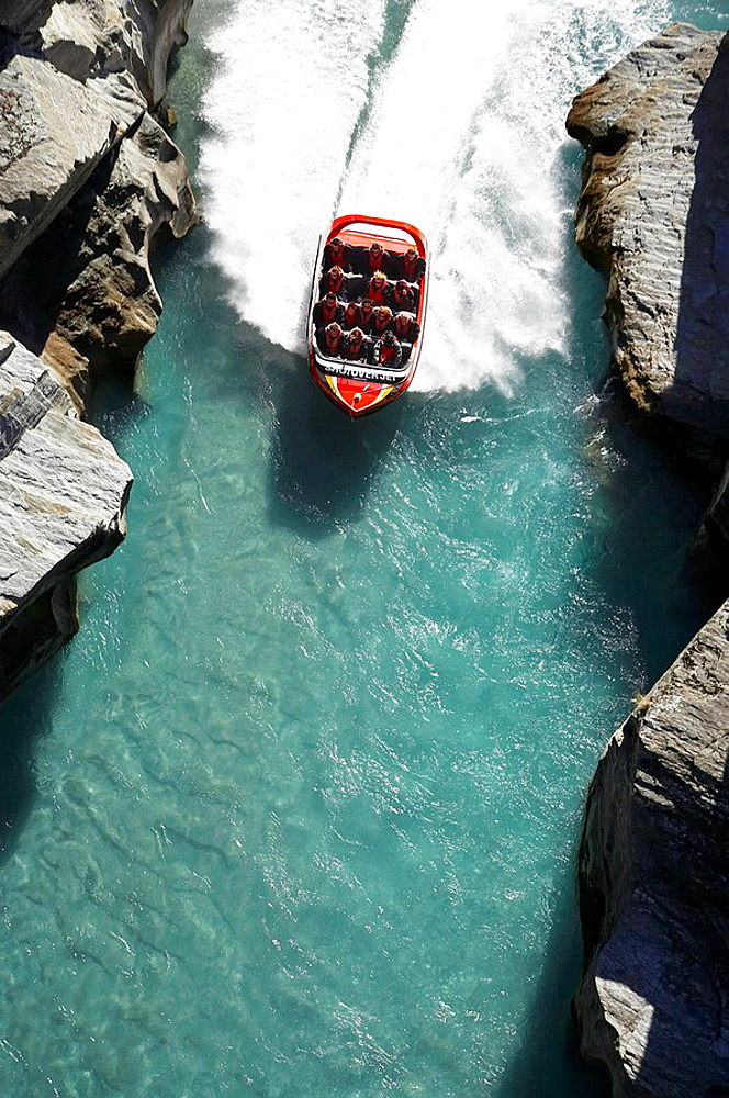Shotover Jetboat, Shotover River, Queenstown, South Island, New Zealand,
