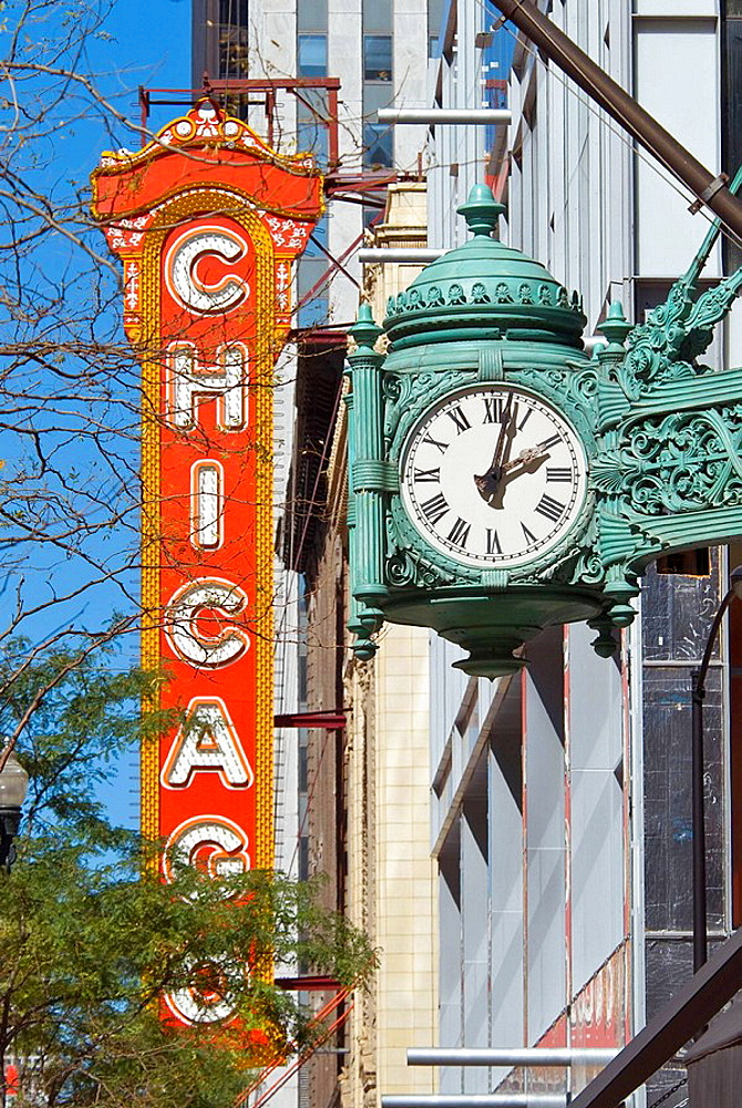 USA Illinois Chicago North State Street Chicago Theater