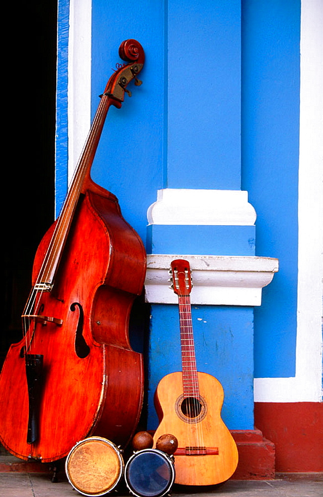 Instruments in a street of Trinidad de Cuba, Cuba
