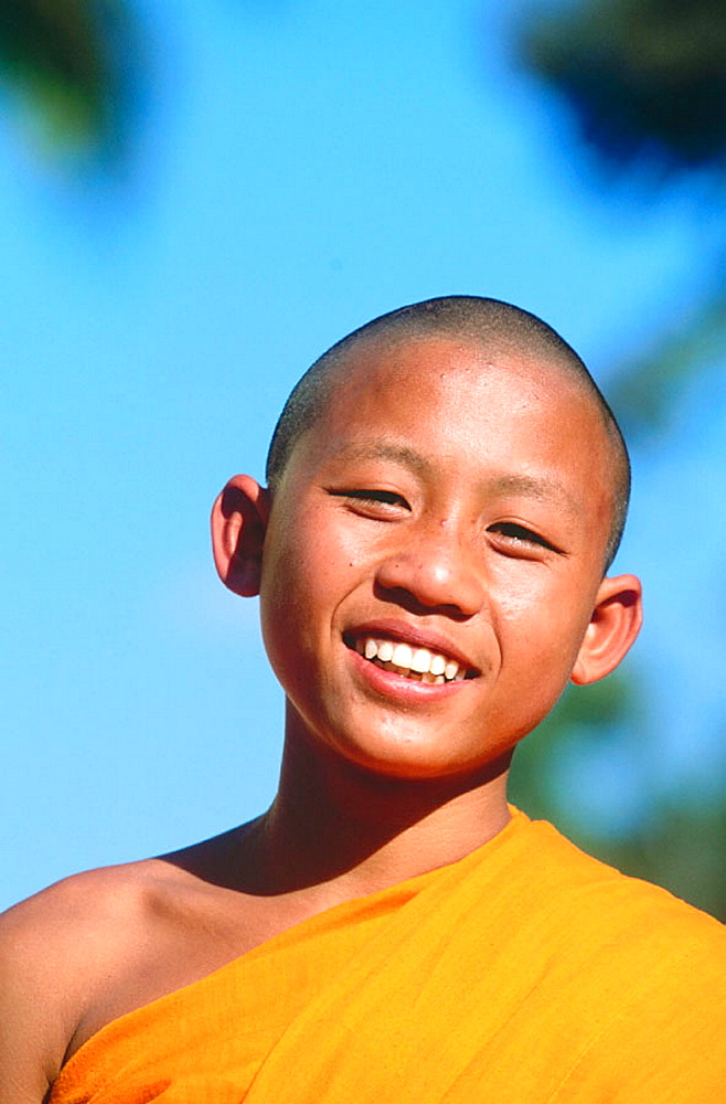 Novice monk at temple, Luang Prabang, Laos